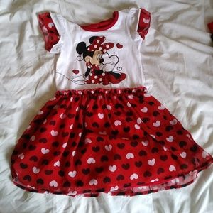 Minnie Mouse Hearts Toddler Dress